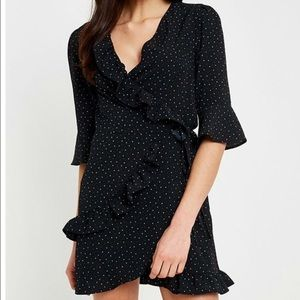 Urban Outfitters Polka Dot Wrap Dress